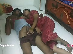 Indian telugu couple sex fucking on the floor